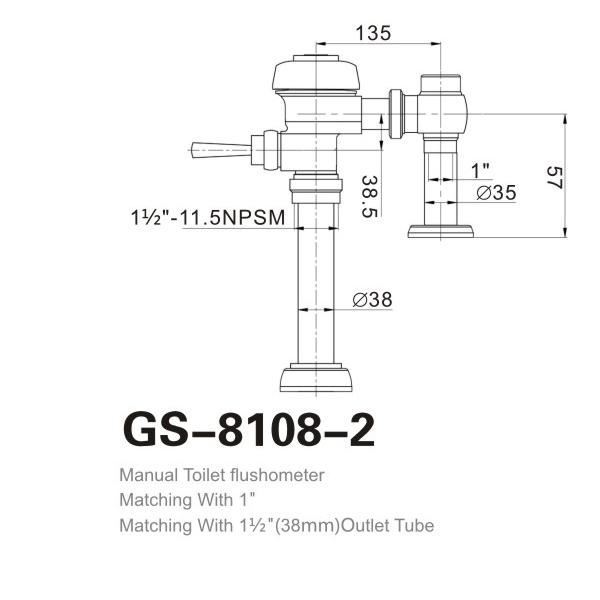 Top Sale Guaranteed Quality Manual Type Flushometer China